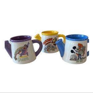Disney (3) Bundle Epcot Flower & Garden Mugs